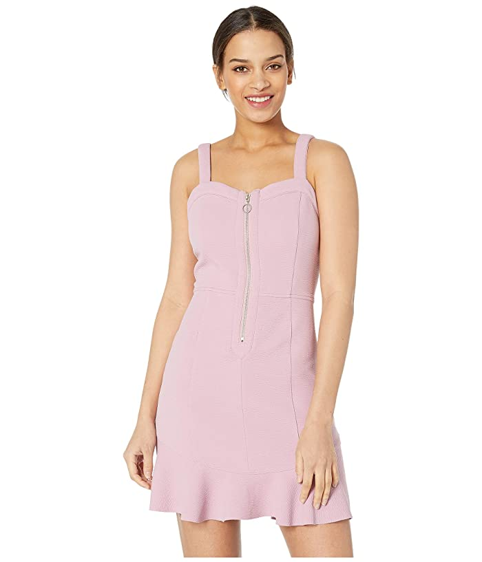 J.O.A. Sweetheart Neck Fit and Flare Dress (Lilac) Women