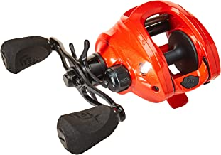 13 FISHING Concept Z Baitcast Reel - 7.3: 1 Gear Ratio - Left Handed (Fresh+Salt), Tequila Sunrise