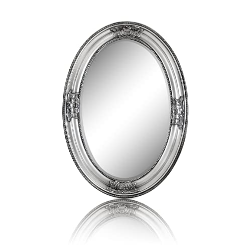 Silver Oval Wall Mirrors Amazoncouk