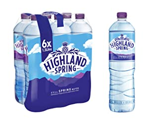 Highland Spring Still Spring Water, 6 x 1.5L