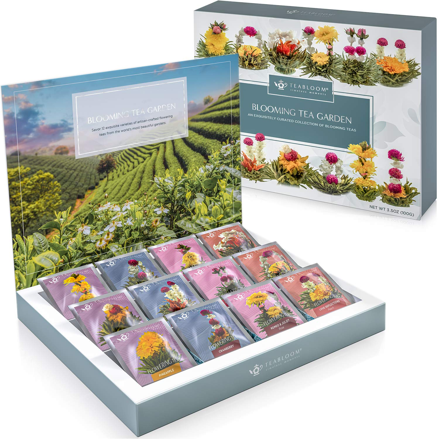 Teabloom Flowering Under blast sales Tea Chest - Quality Blooming Colle safety Finest