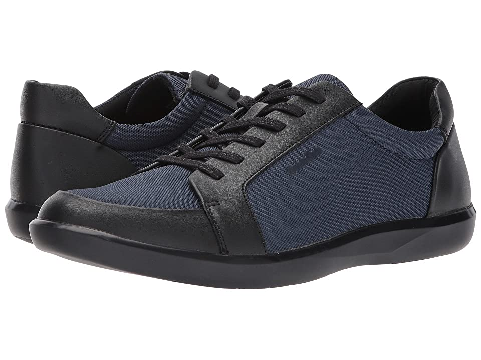 Calvin Klein Macabee (Black/Dark Navy Brushed Leather/Blastic Nylon) Men