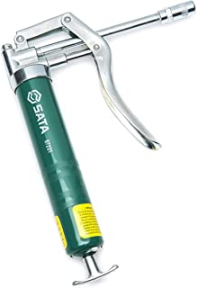 SATA Hand-Operated Pistol Grip Grease Gun, with a Green 100CC Canister and a High-Strength Steel-Cast Tip - ST97201
