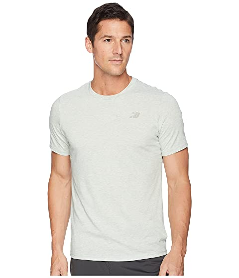 New Balance Heather Tech Short Sleeve Silver Mint Buy Cheap Big Discount Best Store To Get Online Classic Clearance Online Fake gfscke