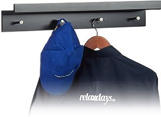 BESTONZON Sopra la porta gancio di stoccaggio di ferro scaffale Organizer con 5 ganci per i vestiti cappotto Hat asciugamani
