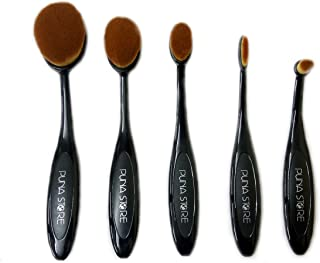 Puna Store® 5 Piece Oval Brush Set - Black