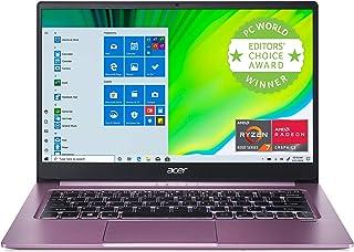 Acer (エイサー) Swift 3 薄型 軽量 ノートパソコン、14インチ フルHD IPS、AMD Ryzen 7 4700U オクタコアプロセッサー Radeonグラフィックス、16GB LPDDR4X、512GB NVMe SSD、W...