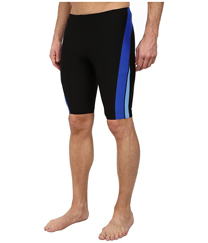 Speedo Launch Splice Jammer (Black/Blue) Men