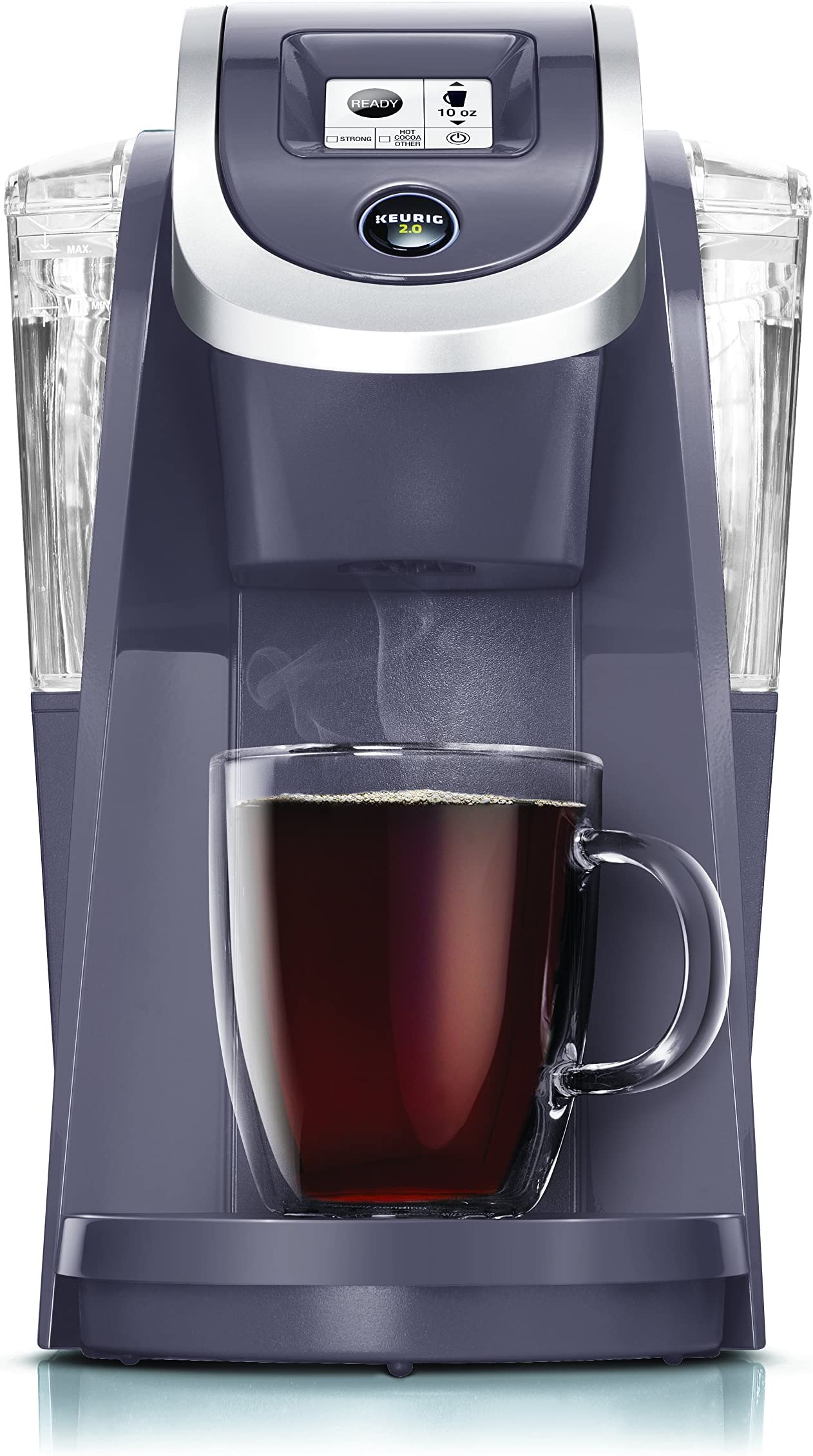Keurig K250 Coffee Maker, Single Serve K-Cup Pod Coffee Brewer, With Strength Control, Plum Grey