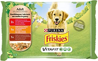 Purina Friskies Dog Food Variety Pack 100g (4 Pouches)