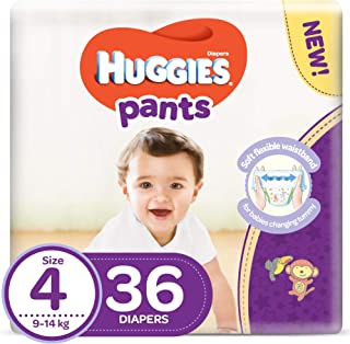Huggies Pants Diapers, Size 4, 9-14 kg, 36 Count (KC706)
