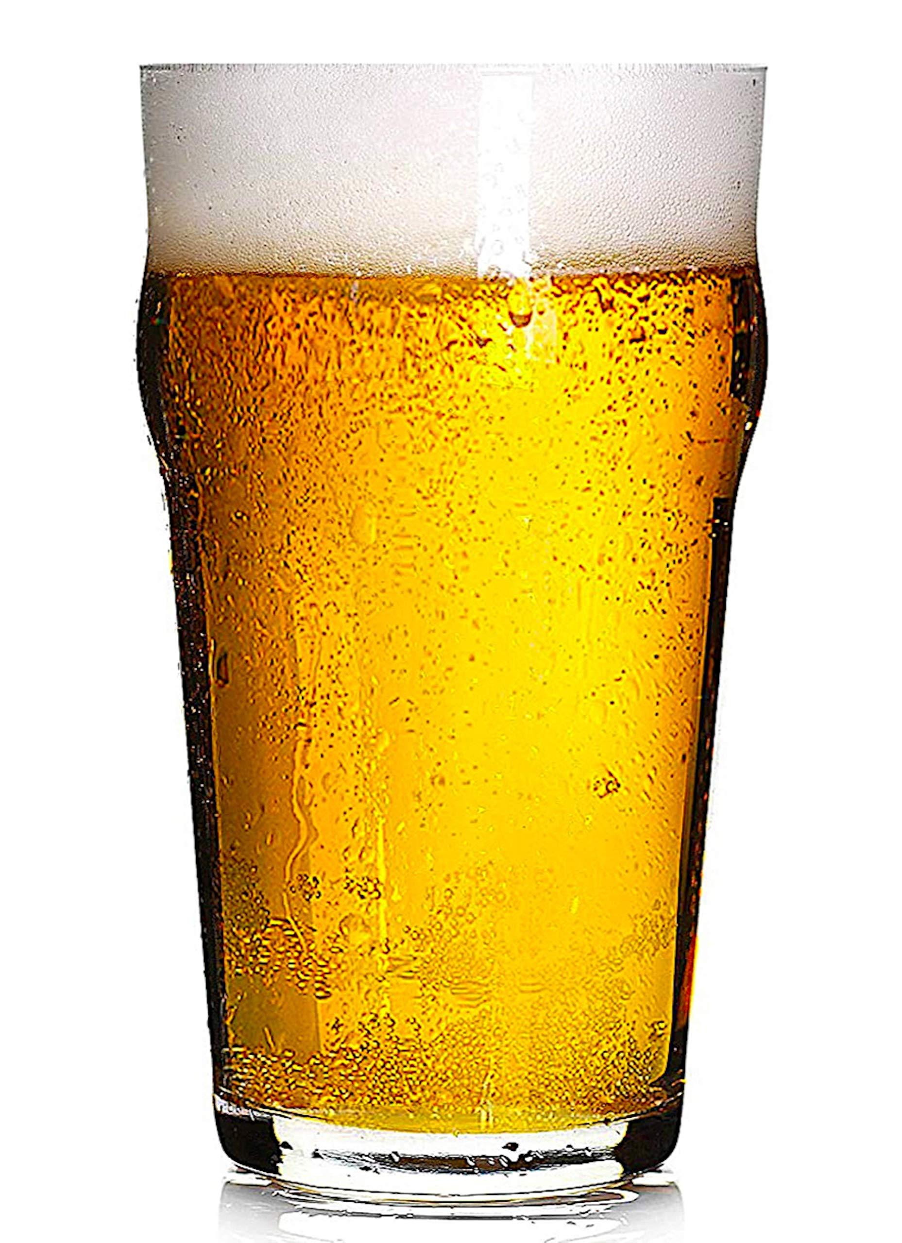 Hostelvia - Nonic Vaso de Cerveza de Pinta 56 cl - Pack de 12: Amazon.es: Hogar