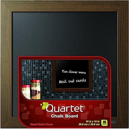 Amazon Com Quartet Chalkboard 14 X 14 Chalk Board White Wood Finish Frame 90006 Office Products