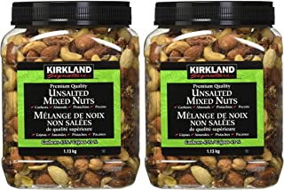 Kirkland Signature Extra Fancy Unsalted Mixed Nuts 2.5 (LB) - PACK OF 2