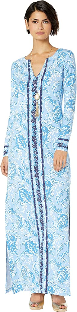 Blue Peri Turtley Awesome Engineered Maxi Dress