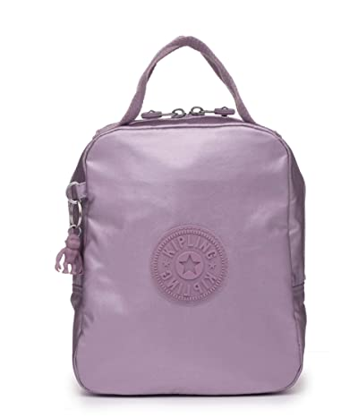 Kipling Lyla Insulated Lunch Bag (Metallic Berry) Handbags