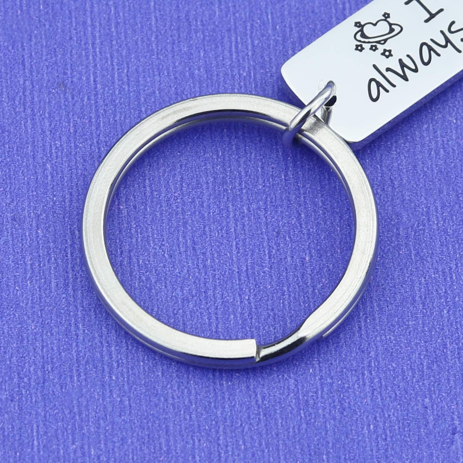 Ribukat Couples Keychain I Love You Always and Forever Keychain Lovers Keychains