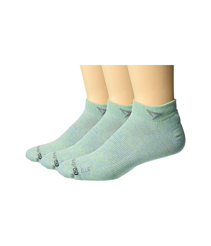 Drymax Sport  Lite Trail Running Mini Crew 3-Pack (Ellie Sublime/Sky Blue Heathered) Crew Cut Socks Shoes