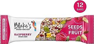 Blake's Seed Based Bar, Raspberry, Nut Free, Gluten Free, Vegan, Dairy Free, Sesame Free, Soy Free, Egg Free, Non GMO, 1.23oz (12 Bars)