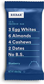 RXBAR, Blueberry, Protein Bar, 1.83 Ounce (Pack of 12) Breakfast Bar, High Protein Snack