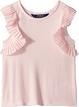 Flutter-Sleeve Jersey Top (Little Kids)