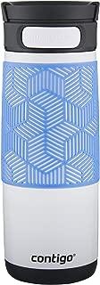 Contigo AUTOSEAL Transit Stainless Steel Travel Mug, 16 oz, Opaque White with Periwinkle
