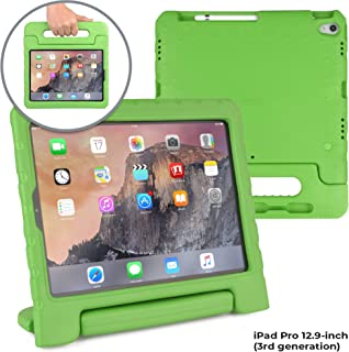 Official Cooper Dynamo [Rugged Kids Case] for iPad Pro 12.9-inch (3rd Generation) | Protective Foam Cover | Stand, Handle, Pencil Charge Slot (Green)