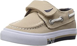 Nautica Kids' Little River Striped Foxing Boat Shoe