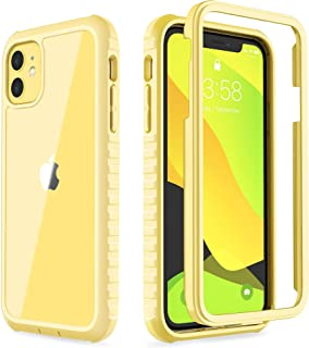 ULAK iPhone 11 Case,  Clear Heavy Duty Protection Shockproof Rugged Cover Designed Flexible Soft TPU Bumper Safe Grip Protective Cover for Apple iPhone 11 6.1inch (2019 ),  Light Yellow