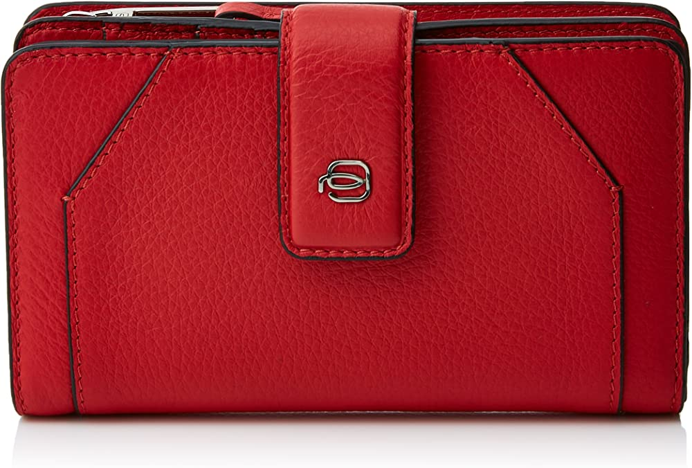 piquadro continuativo portamonete,portafoglio per donna , in vera pelle pd1353mur