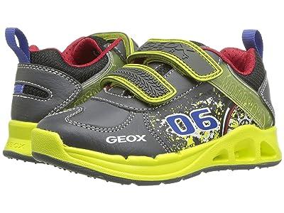 Geox Kids Jr Dakin 5 (Toddler) (Grey/Lime) Boys Shoes