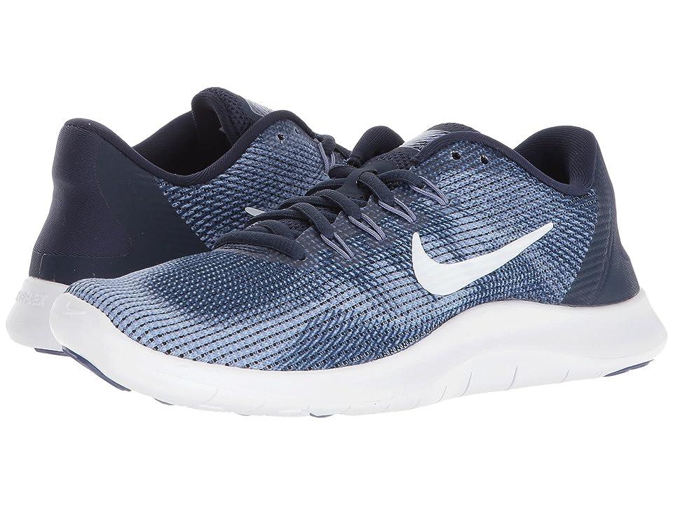 Nike Flex RN 2018 (Midnight NavyWhitePurple Slate) Women's Running Shoes, Blue