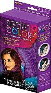Secret Color Headband Hair Extensions Purple