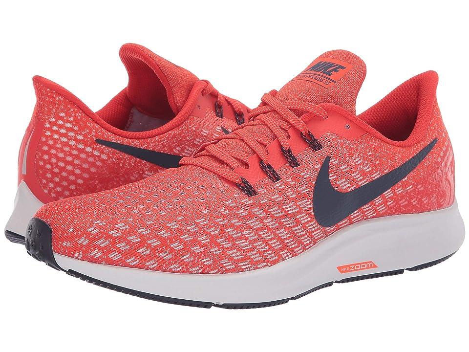 Nike Air Zoom Pegasus 35 (Habanero Red/Blackened Blue/Vast Grey) Men