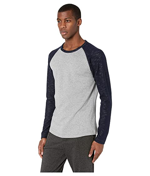 5e6370b6792 Vince Color Block Double Knit Long Sleeve Crew at Luxury.Zappos.com