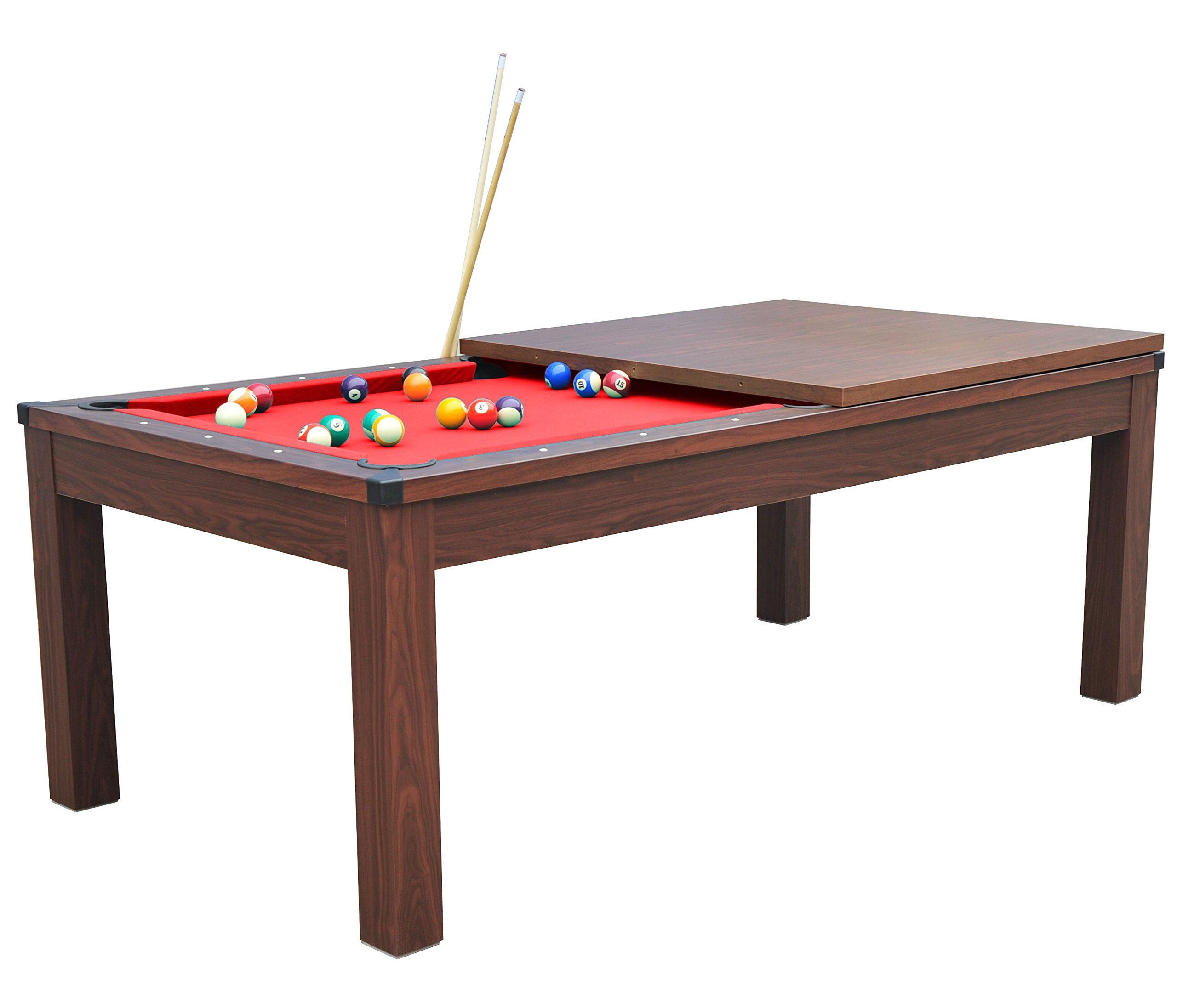 Billar americano con bandeja para comer, 2 juegos de bolas y accesorios, Havane-Rouge: Amazon.es: Deportes y aire libre