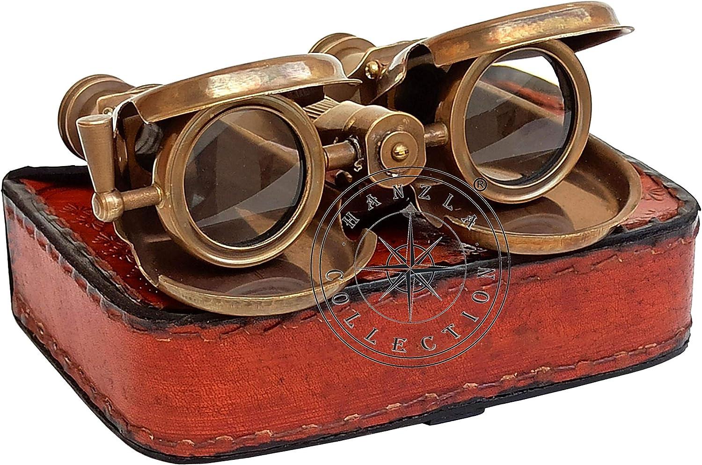Vintage Nautical Pocket Binocular Marine Folding Spyglass Collectible Gift