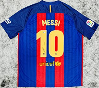 Autographed Lionel Messi Jersey - Beckett BAS COA - Beckett Authentication - Autographed Soccer Jerseys