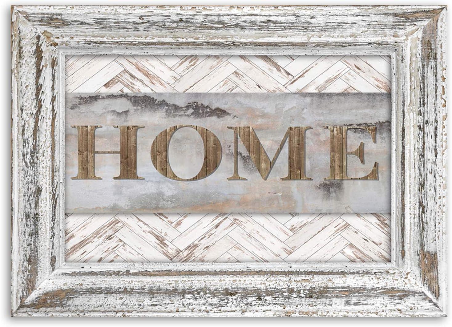 Feeby Imagen Moderno Home r/ústico 60x40 cm Impresi/ón Lienzo tableros de Madera Vintage Beige