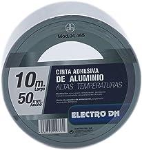Cinta adhesiva de 10 metros de aluminio. Adhesivo acrílico alta resistencia. Especial para altas temperaturas.