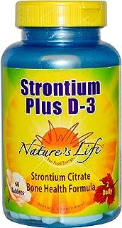 Strontium Plus D-3 Nature's Life 60 Tabs