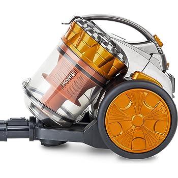 H.KOENIG STC60 Aspirador Multi Ciclónico sin bolsa Compact +, Triple A, Filtro HEPA, Ligero y silencioso, fácil de guardar y transportar, color naranja: Amazon.es: Hogar