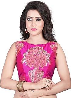 13c7b3dd09dd42 Kuvarba Fashion Women's Jacquard Stitched readymade free size Saree Blouse