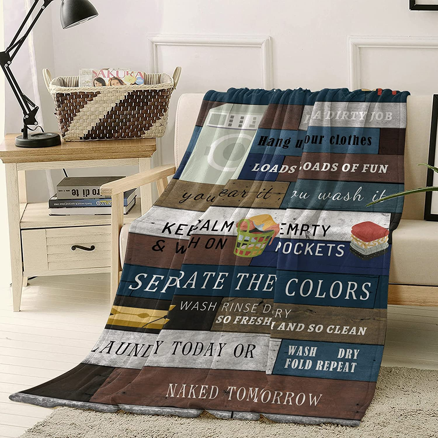Fuzzy Throw Don't miss Special Campaign the campaign Blanket Laundry Room 40 Fleece Blanke x inch Bed 50