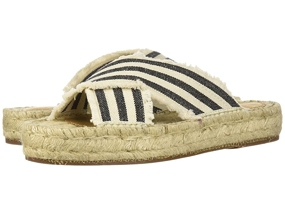 G.H. Bass & Co. Anabelle (Ivory/Black Striped Canvas) Women