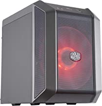 Cooler Master MasterCase H100 Mini-ITX PC case with a 200mm RGB Fan, Fine Mesh Front Panel, Built-in Handle