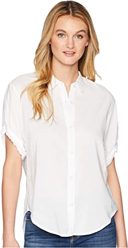 Cotton Voile Short Sleeve Boyfriend Shirt