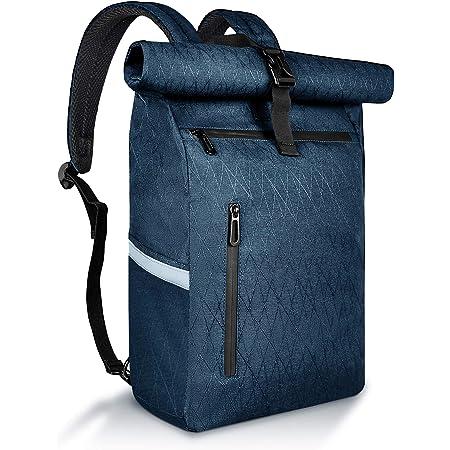 HAVISON Fahrradtasche für Gepäckträger, 22L Hinterradtaschen, Multi-Fach Gepäcktasche, Wasserabweisend and Reflektierend (Blau)