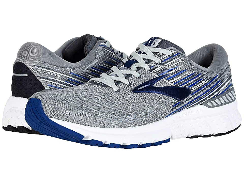 Brooks Adrenaline GTS 19 (Grey/Blue/Ebony) Men's Running Shoes