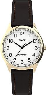Timex Women's Easy Reader Gen1 32mm Quartz Leather Strap, Brown, 16 Casual Watch (Model: TW2U21800)